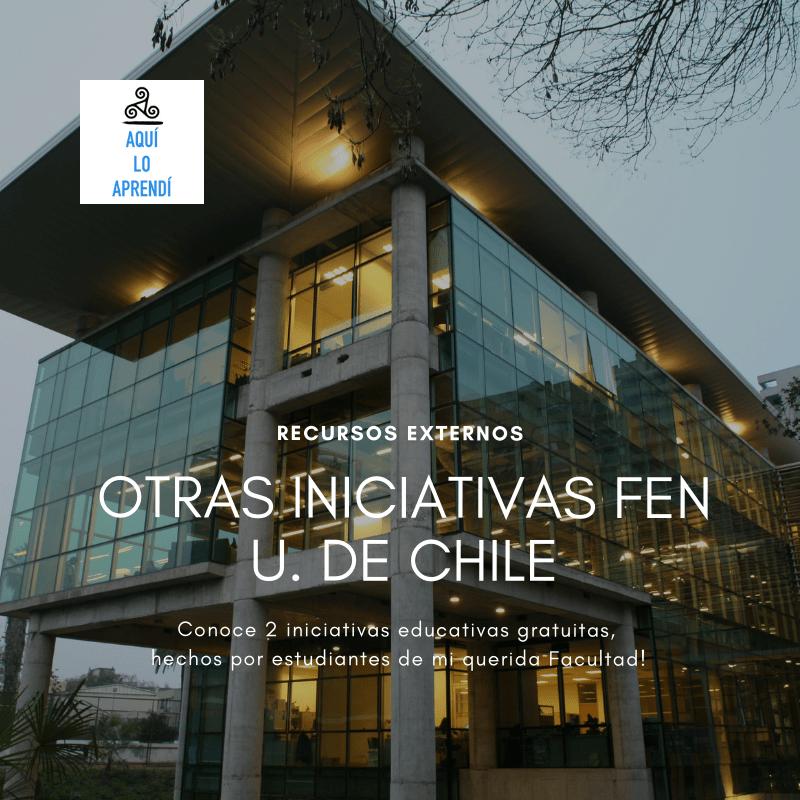 Aprende gratis con otras iniciativas FEN, U. de Chile
