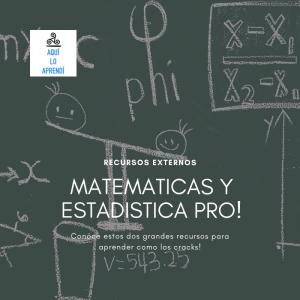 Recursos PRO de Matemáticas y Estadísticas