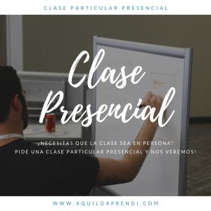 Clase Particular Presencial (2 a 3 horas)