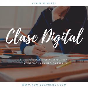 Clase Digital a pedido