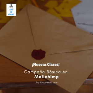 Campaña Spot en Mailchimp