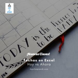 Primeros pasos con Fechas en Excel