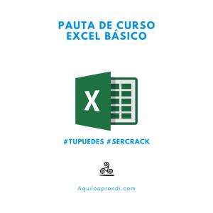 Pauta Curso Excel Básico